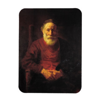 Old man in red - Rembrandt Rectangular Photo Magnet