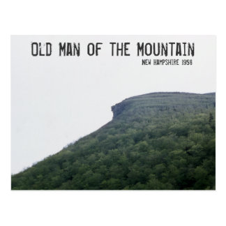 Old Man of the Mountain New Hampshire Postcard