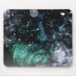Old man of winter grunge look mouse pad