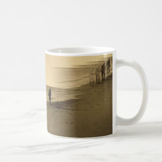 old man on beach mug