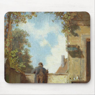 Old Man on the Terrace Mouse Pad
