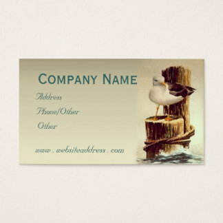 OLD MAN SEAGULL by SHARON SHARPE Business Card