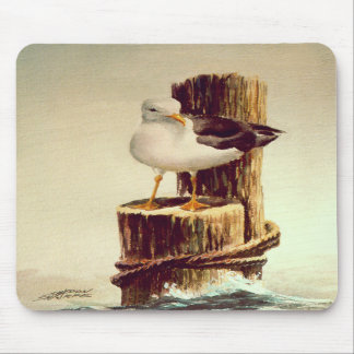 OLD MAN SEAGULL by SHARON SHARPE Mouse Mat