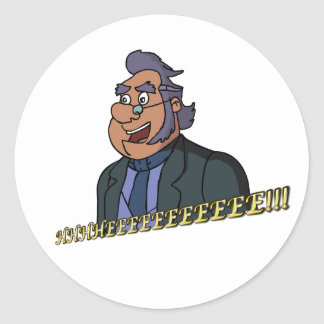 Old Man Sticker, Glossy Round Sticker