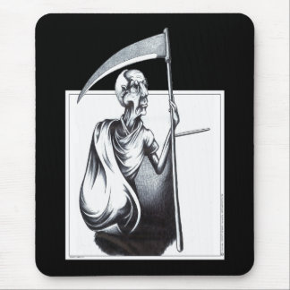 Old Man Time Mouse Pad