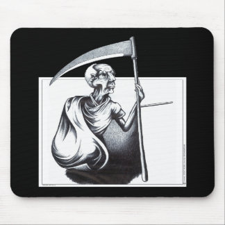 Old Man Time Mouse Pads