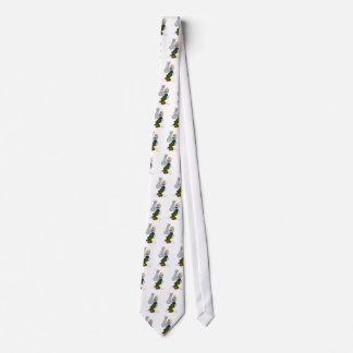 Old Man Waving Beard Cartoon Tie
