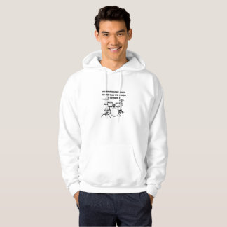 Old Man who also a drummer Funny Drums Hoodie