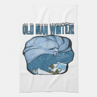 Old Man Winter Kitchen Towels