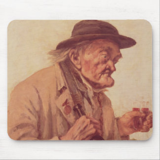 Old Man with a glass of wine Mouse Pad