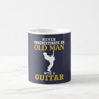 Old Man - With A Guitar Coffee Mug