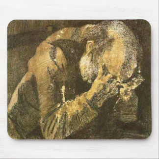 Old Man with Head in Hands Van Gogh Fine Art Mouse Pad