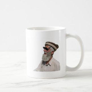 Old Man with Shades Basic White Mug