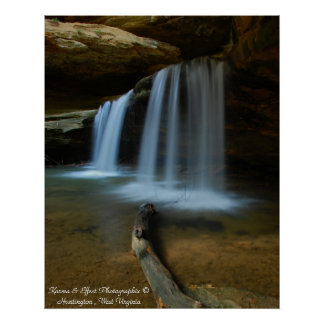 Old Mans Cave Falls Poster
