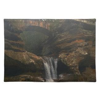Old Mans Cave Upper Falls Ohio Placemat