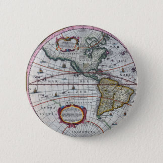 old map Americas 2 Inch Round Button