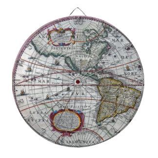 old map Americas Dartboard