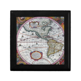 old map Americas Gift Box