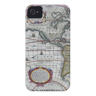 old map Americas iPhone 4 Case-Mate Case