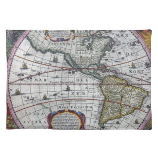old map Americas Placemat