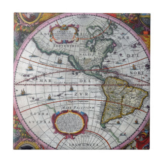 old map Americas Tile