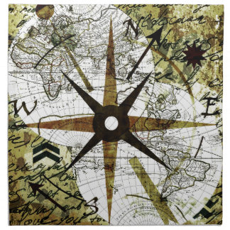 Old map napkin