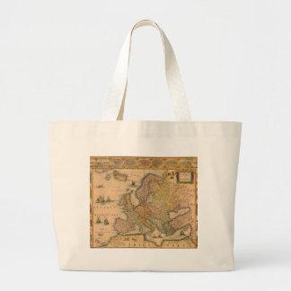 Old Map of Europe Jumbo Tote Bag