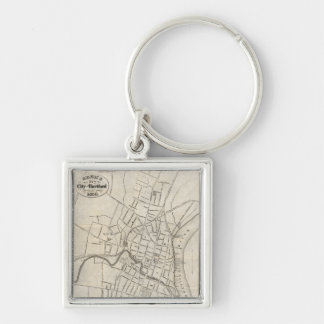 Old Map of Hartford, Connecticut (1859) Keychain