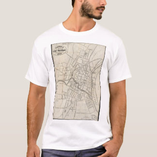 Old Map of Hartford, Connecticut (1859) T-Shirt