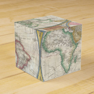 Old Map of the World Favor Box