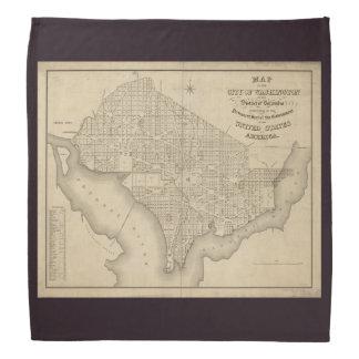 Old Map of Washington DC United States America Bandana