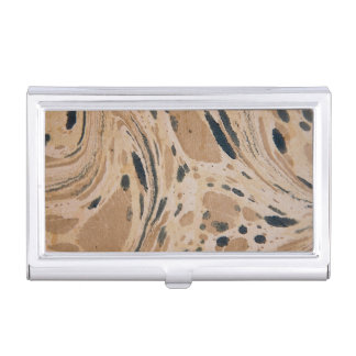 Old marbled texture business card holder