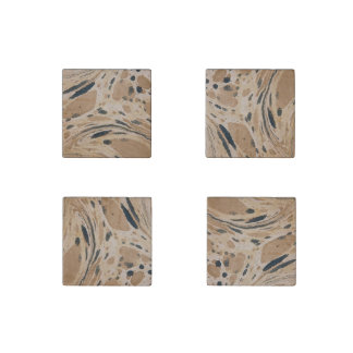 Old marbled texture stone magnet