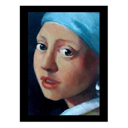 OLD MASTERS PEARL EARRING POST CARD