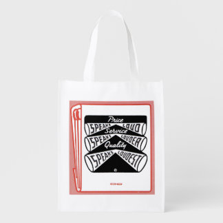 old matchbook cover Price Speaks Loud Reusable Grocery Bag