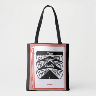 old matchbook cover Price Speaks Loud Tote Bag