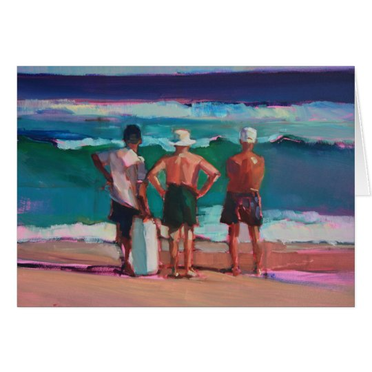 Old Men at the Beach Card