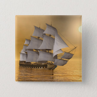 Old merchant ship - 3D Render 2 Inch Square Button