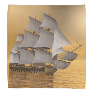 Old merchant ship - 3D Render Bandana