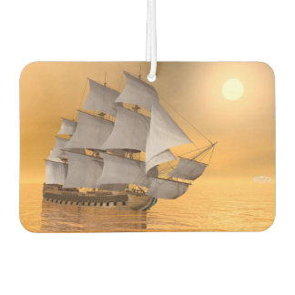 Old merchant ship - 3D Render Car Air Freshener