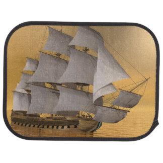 Old merchant ship - 3D Render Car Mat