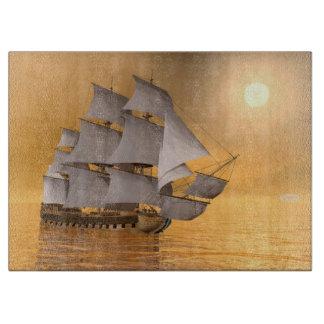 Old merchant ship - 3D Render Cutting Board