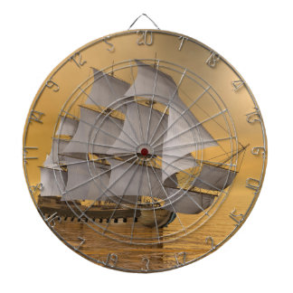 Old merchant ship - 3D Render Dartboard