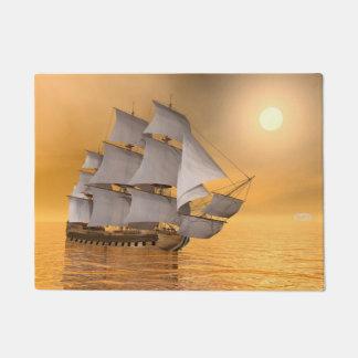 Old merchant ship - 3D Render Doormat