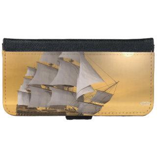 Old merchant ship - 3D Render iPhone 6 Wallet Case
