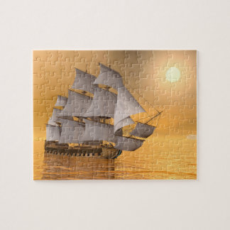Old merchant ship - 3D Render Jigsaw Puzzle