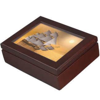 Old merchant ship - 3D Render Keepsake Box