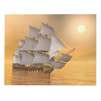 Old merchant ship - 3D Render Notepad