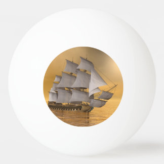 Old merchant ship - 3D Render Ping Pong Ball