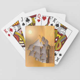 Old merchant ship - 3D Render Playing Cards